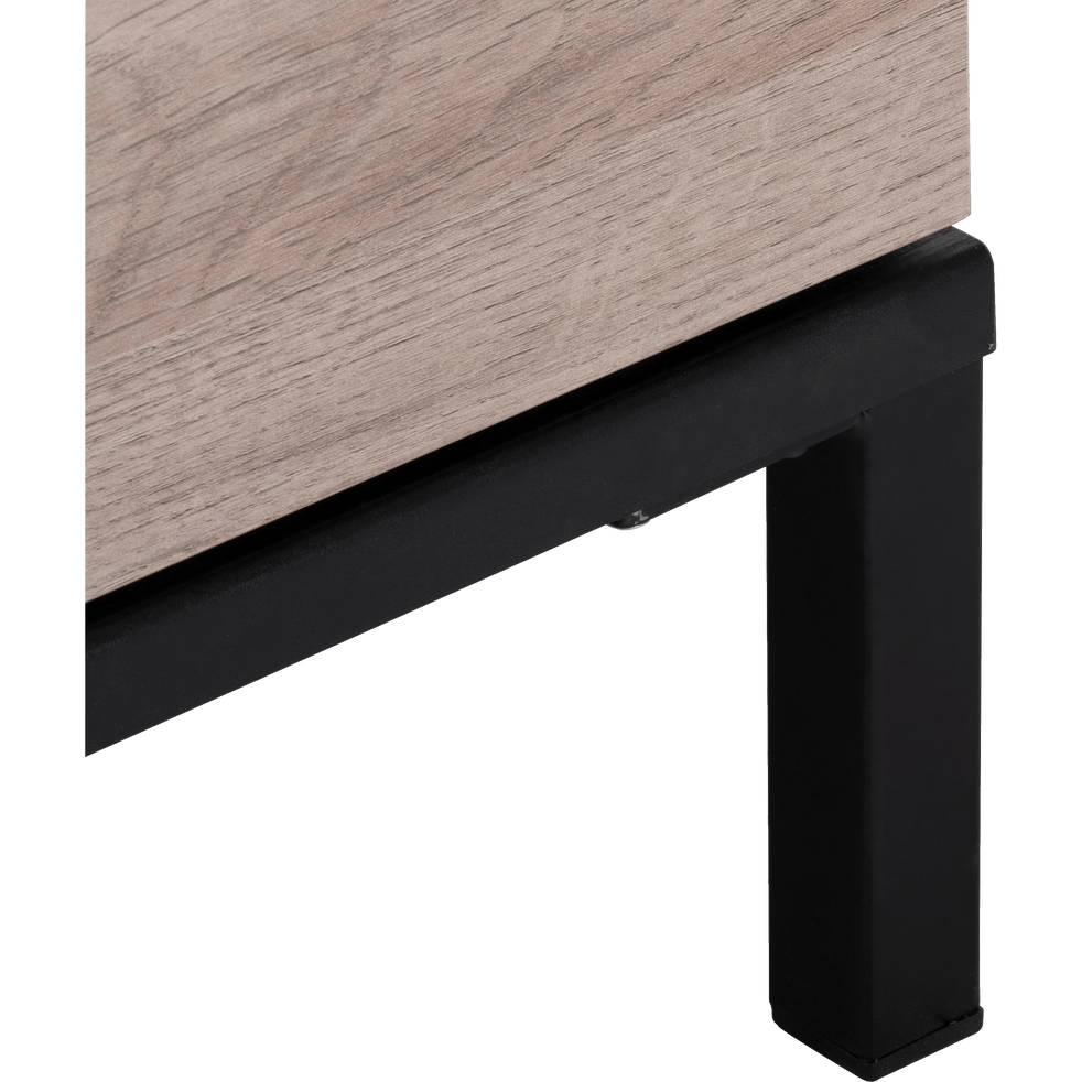 Commode 3 tiroirs couleur bois et métal noir-CASTEL