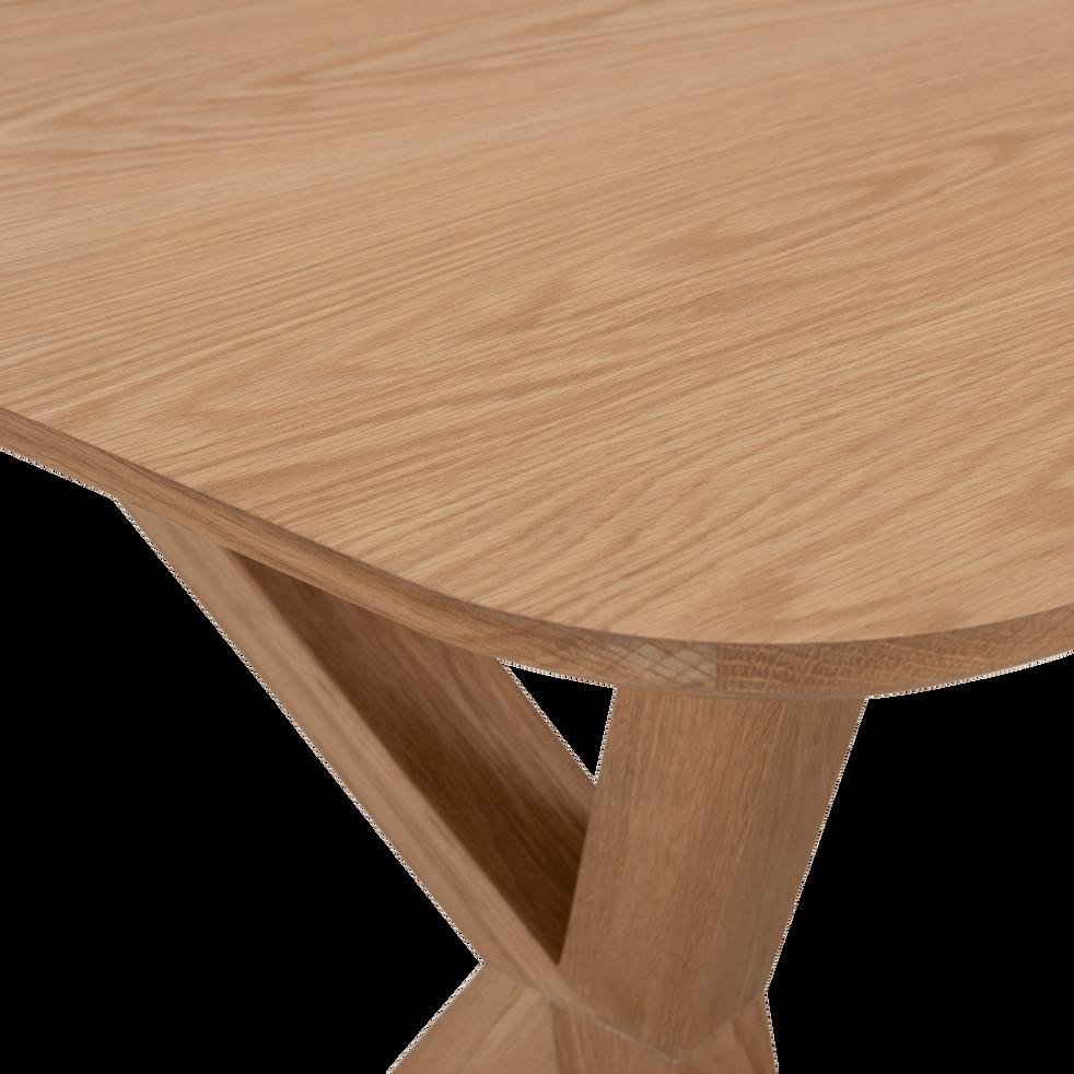 Table de repas extensible plaquée chêne - 6 à 8 places-LEONIE