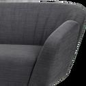 Canapé 3 places fixe en tissu anthracite esprit scandinave-FJORD