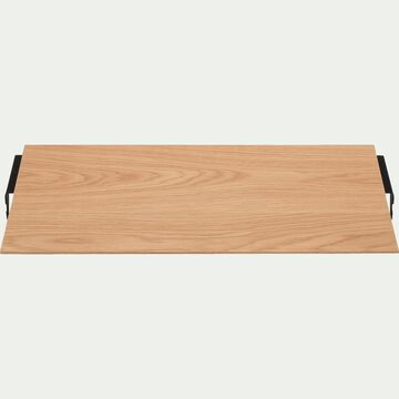 Tablette plaquée chêne L60cm-PORTPIN