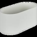 Cache-pot blanc H13xL27cm-B FOR