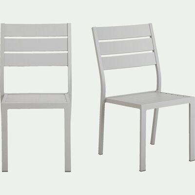Chaise de jardin empilable en aluminium - gris borie-MARIA