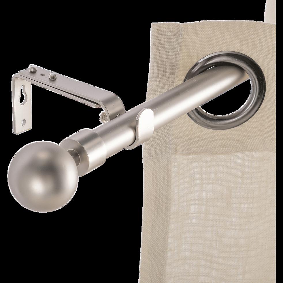 Kit tringle extensible en acier finition alu mate 210-380 cm D16/19 mm-LOUISE