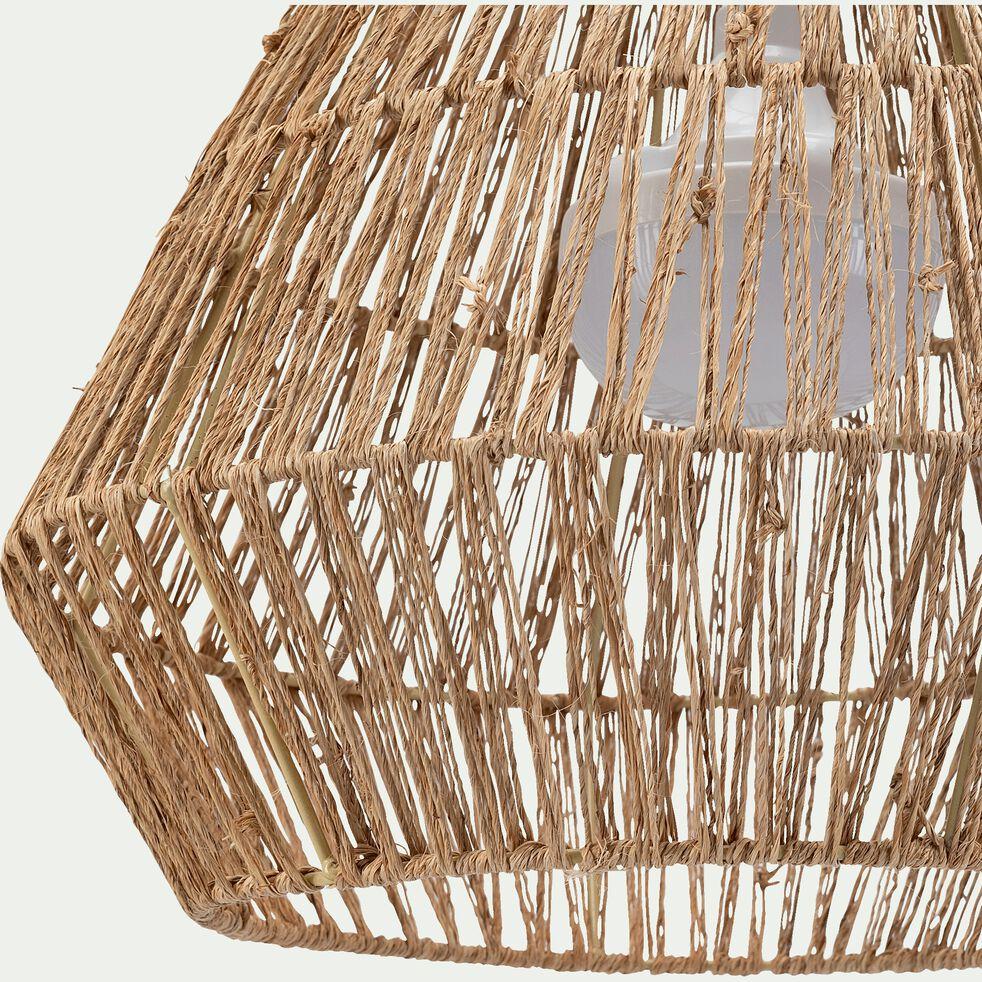 Suspension extérieure en fibres naturelles avec ampoule rechargeable - D40xH30,5cm-SISINE