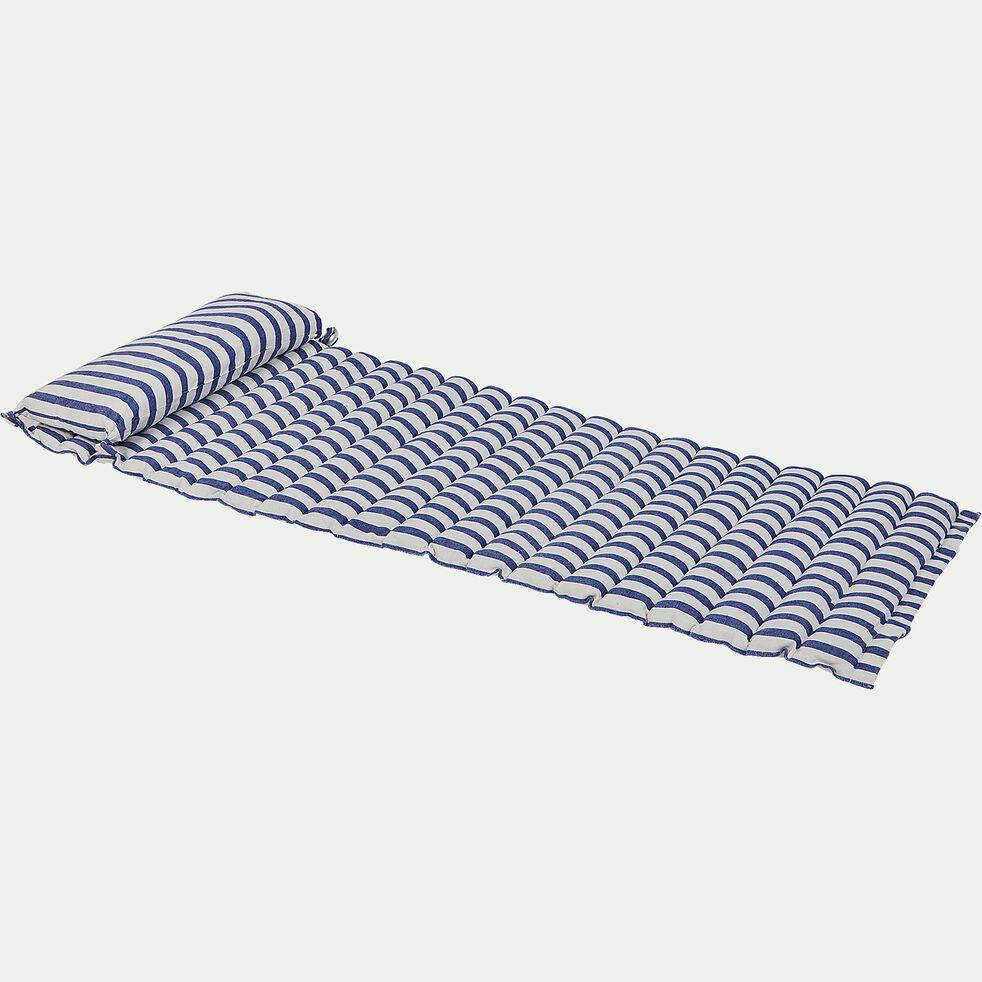 Matelas de plage - rayures bleues 60x170cm-LAGOS
