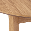 Table de repas extensible plaquée chêne - 4 à 6 places-CONSTANCE