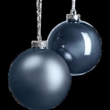 Lot de boules en verre grises 4 pièces D10cm-damesnil