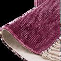 Tapis en coton rouge sumac 150x200cm-PALMA