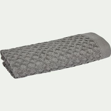 Serviette invité bouclette en coton - gris restanque 30x50cm-ETEL