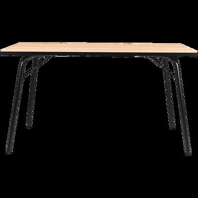 Table de repas rectangulaire effet chêne - 6 places-DENYS