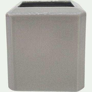 Vase en céramique gris H12cm-GRANIT