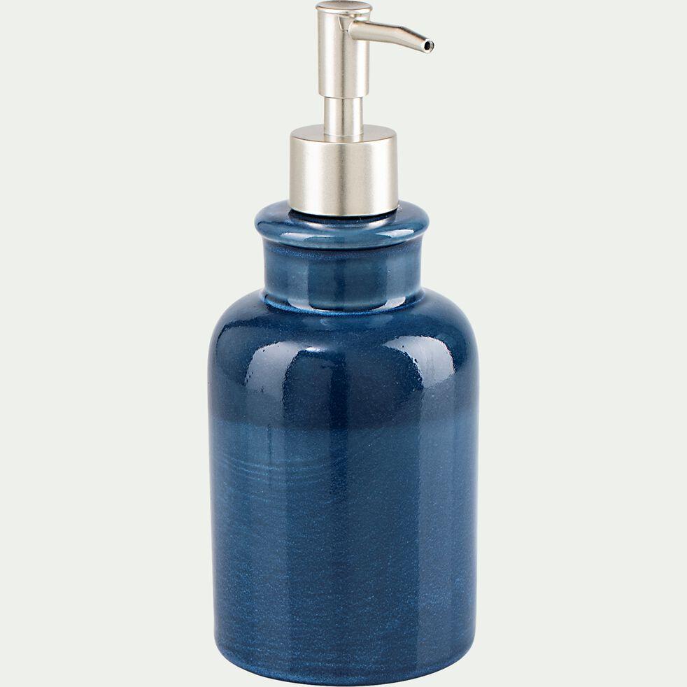Distributeur de savon liquide en céramique - bleu figuerolles-DANA