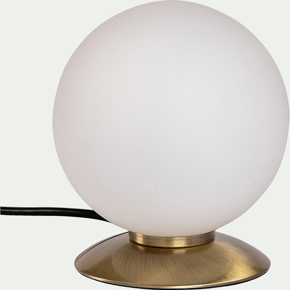 Lampe à poser boule en verre - pied laiton D15cm-BUBBA