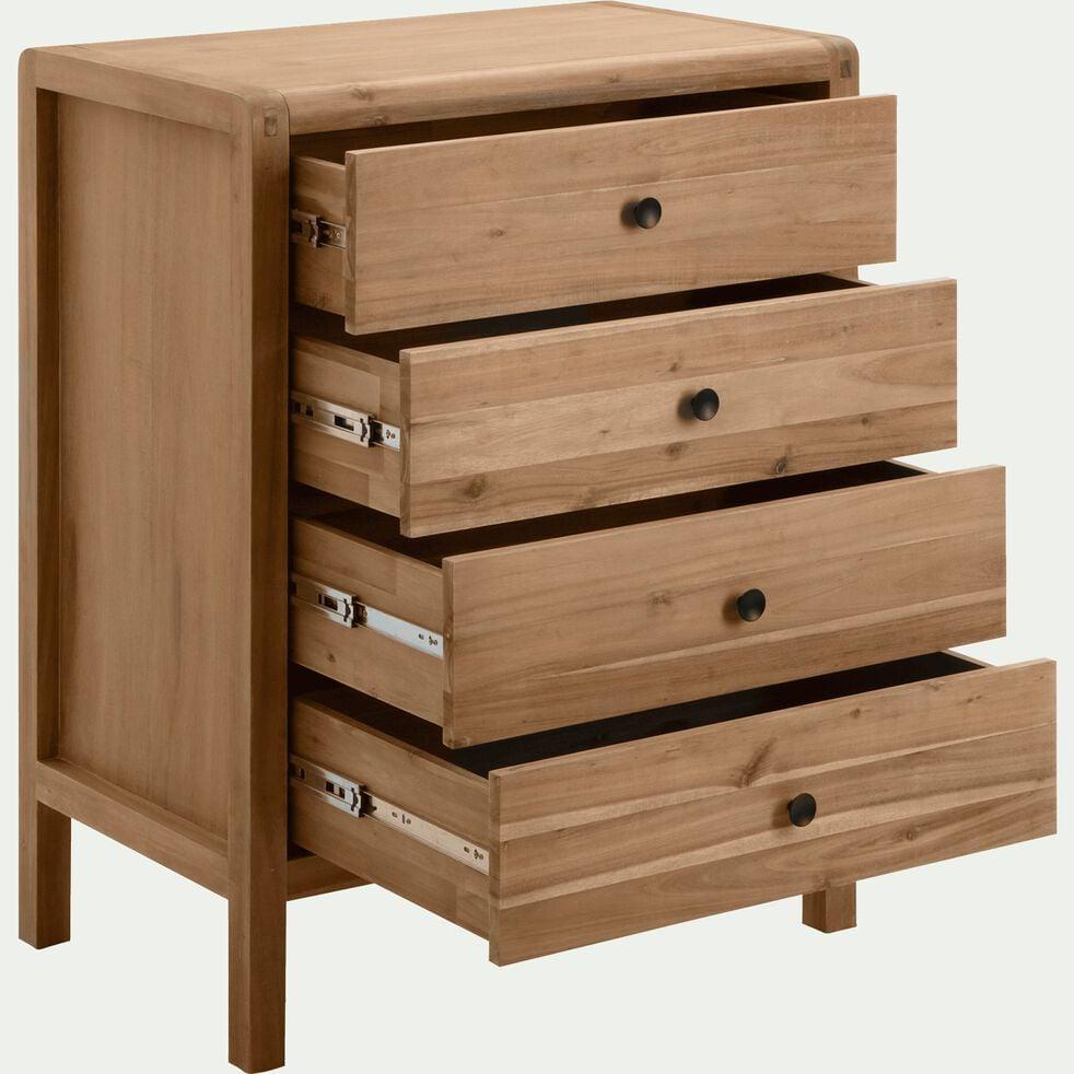 Commode 4 tiroirs en acacia-GAIA