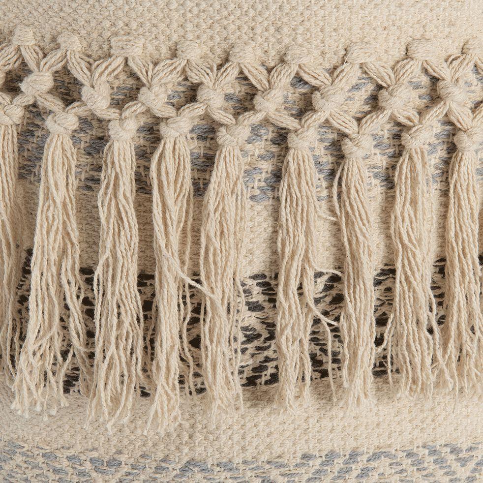 Panier déco en coton - beige H40xD40cm-MAE
