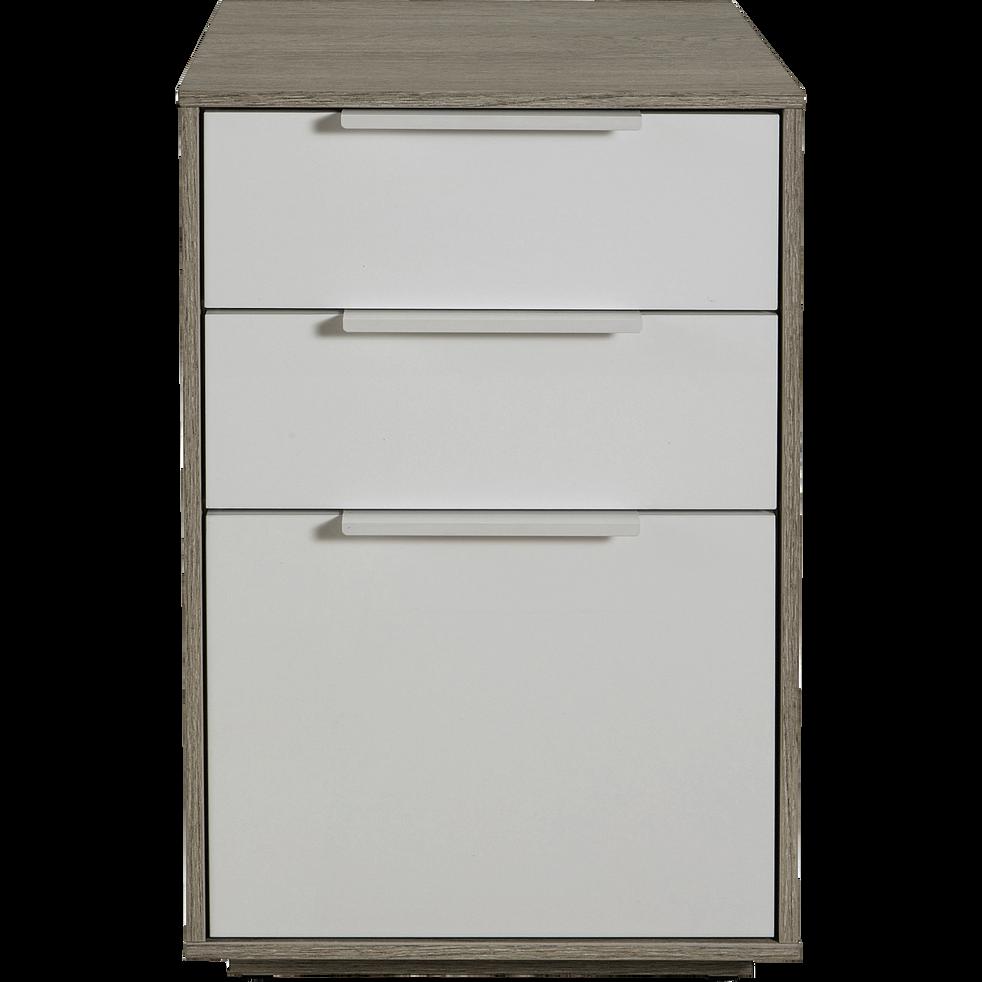 Table de chevet 1 porte et 2 tiroirs-MILANO