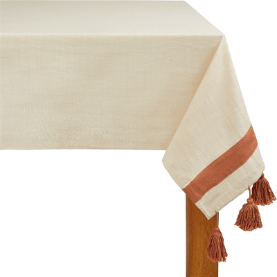 Nappe en coton orange 160x250cm-AMIN