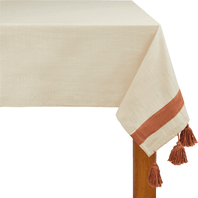 Nappe en coton orange 160x250cm-AMIN