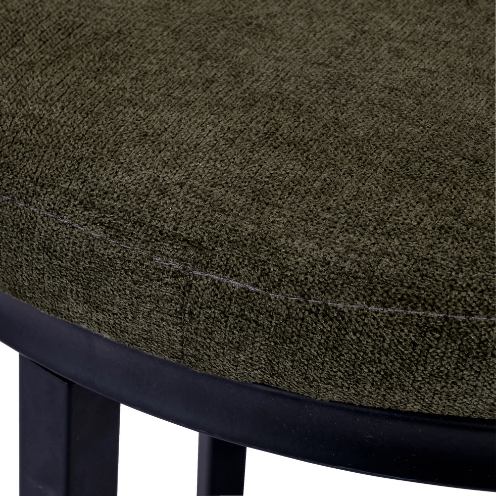 Tabouret en tissu - vert cèdre - H46,5cm-PINSON