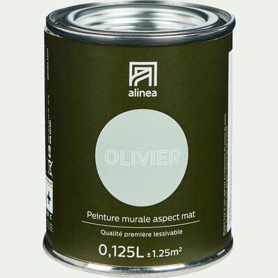 Peinture acrylique mate multi-supports - vert olivier 0,125L-PEINTURE