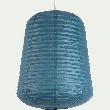Suspension ovale en papier - bleu autan D40xH50cm-ALOU