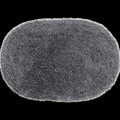 Tapis de bain 40x60cm uni gris ovale-OVO