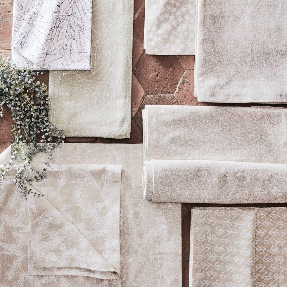 Nappe en lin et coton coloris naturel motifs figuier 170X250cm-ST REMY