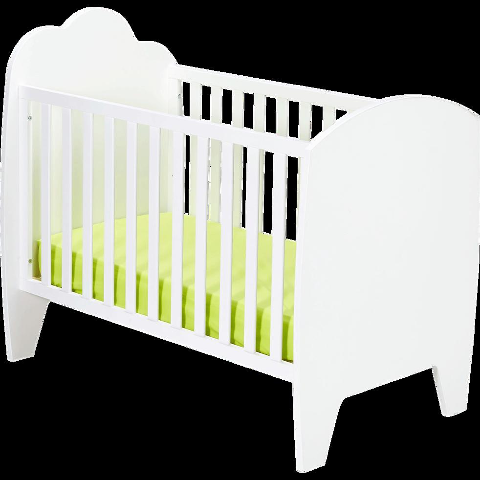 lit b b barreaux blanc 60x120 cm nuage lits b b alinea. Black Bedroom Furniture Sets. Home Design Ideas