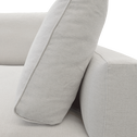 Élément de canapé 1.5 places gauche modulable en tissu beige roucas-AUDES