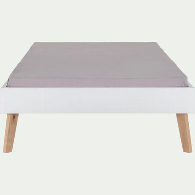 Lit enfant 1 place en bois 90x200cm - blanc capelan-SACHA