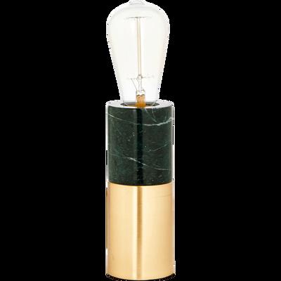 Lampe à poser en marbre vert H18xD7cm-EMMA