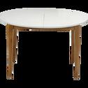 Table de repas extensible blanche - 4 à 8 places-SIWA