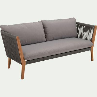 Canapé de jardin en cordes - gris vésuve (2 places)-BELLONE