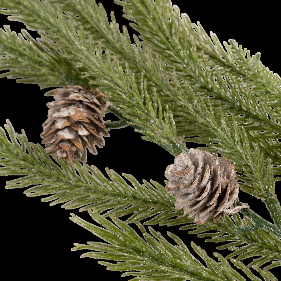 Branche artificielle de pin vert L90cm-SUFFREN