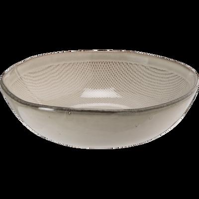 Assiette creuse en grès blanc D17,8cm-ALONG