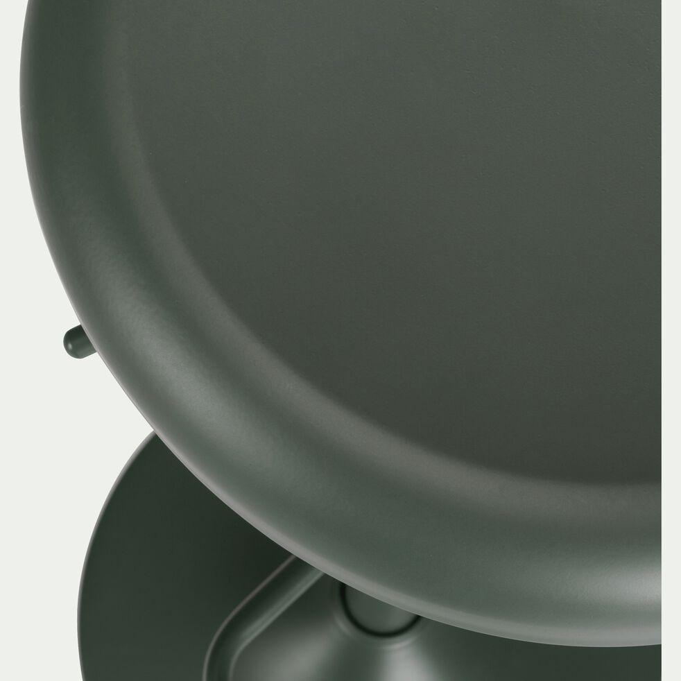 Tabouret ajustable en métal vert cedre H59 à 81cm-CORIS