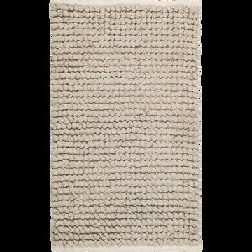 Tapis de bain en coton Vert olivier 80 x 50 cm-JAN