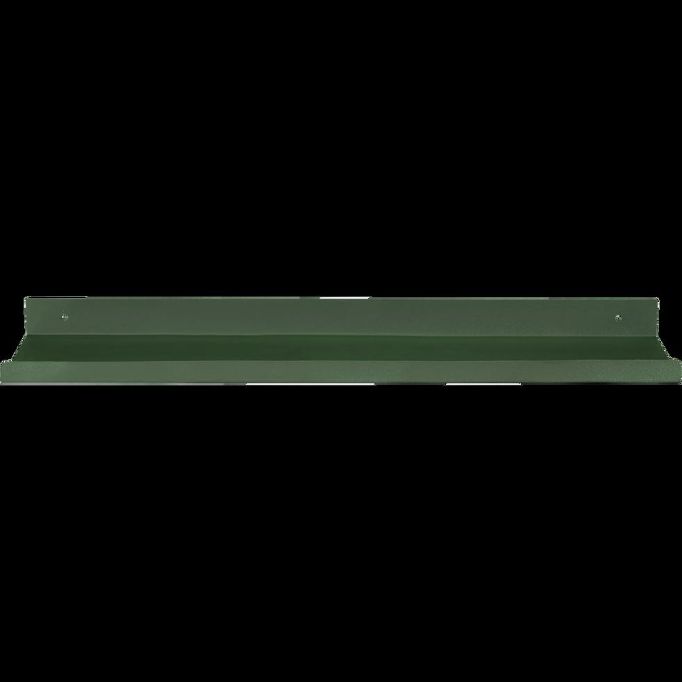 Etagère murale en acier vert cèdre L40xl10xH3cm-AGY
