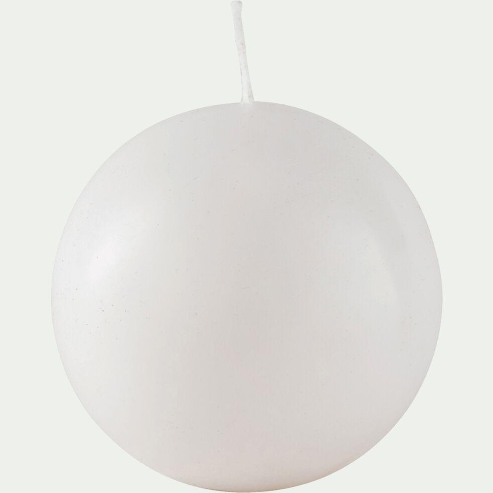 Bougie ronde blanc capelan D10cm-HALBA