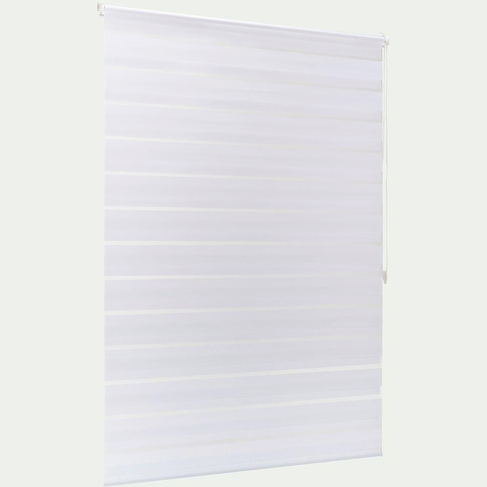 Store enrouleur tamisant - blanc 112x190cm-JOUR-NUIT