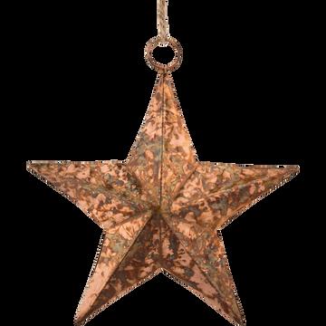 Décoration à suspendre en fer doré 15cm-MONASTIR