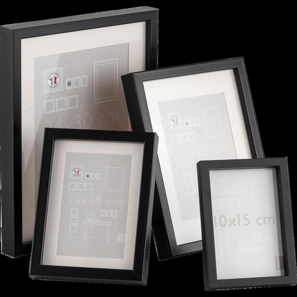 cadre photo en bois noir plusieurs coloris et tailles. Black Bedroom Furniture Sets. Home Design Ideas