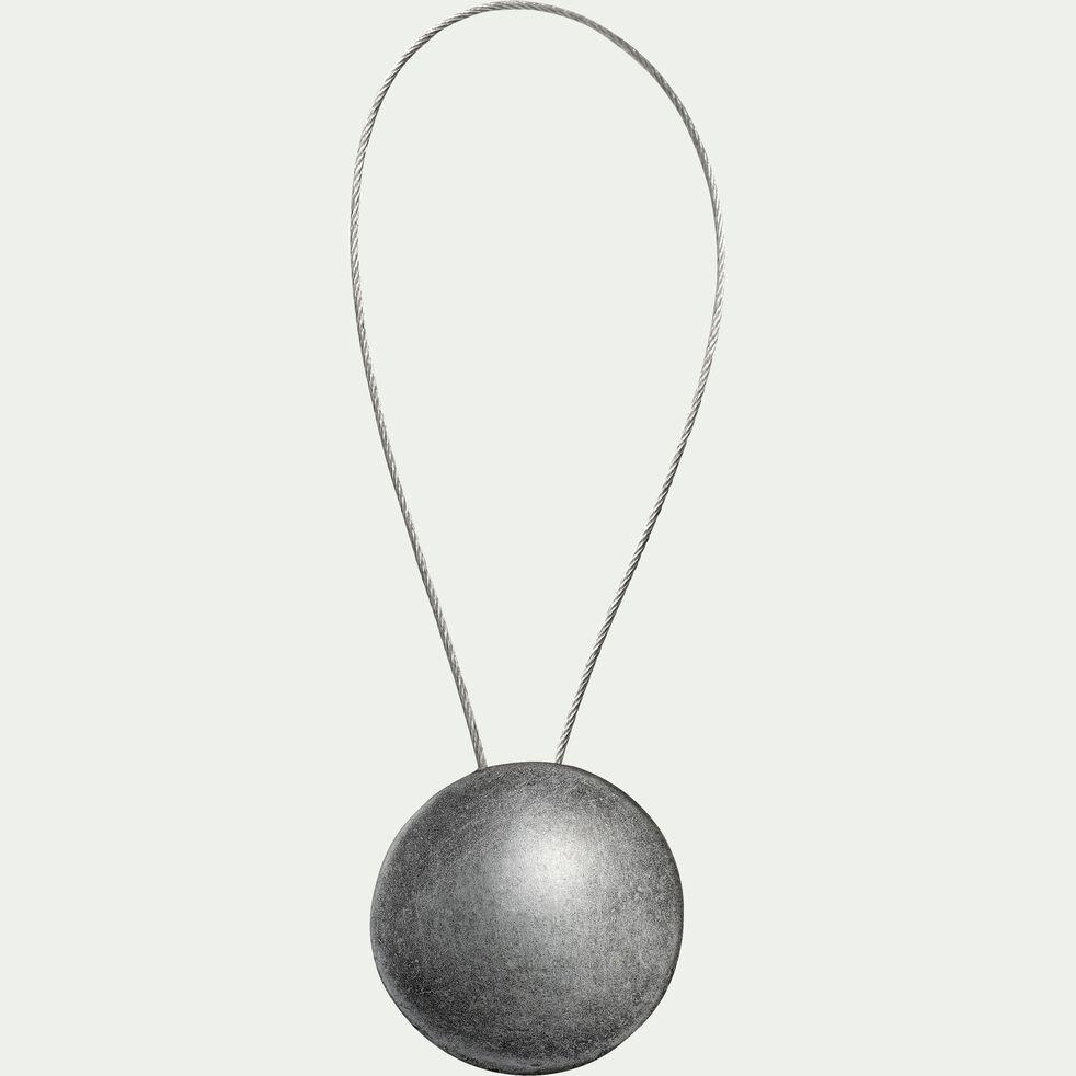 Embrasse magnétique en acier - gris anthracite-PARIOU