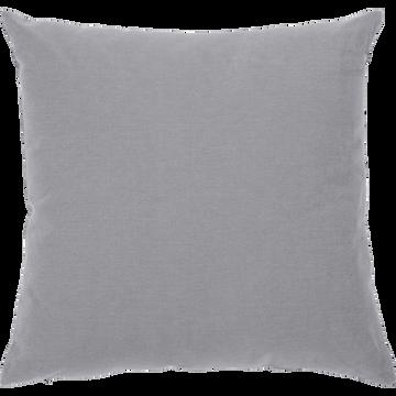 Coussin de sol en coton gris restanque 70x70cm-CALANQUES