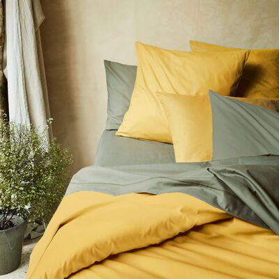 Housse de couette en coton - jaune genet 140x200cm-CALANQUES
