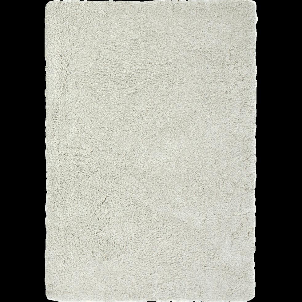 Tapis shaggy écru 120x170cm-CLOUD