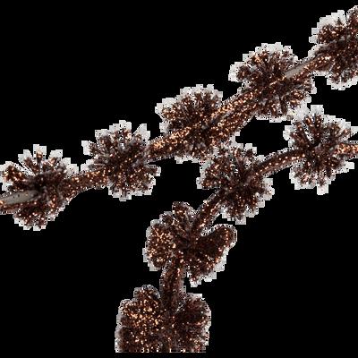 Guirlande de noël de pin marron en plastique L150cm-AGUINANE