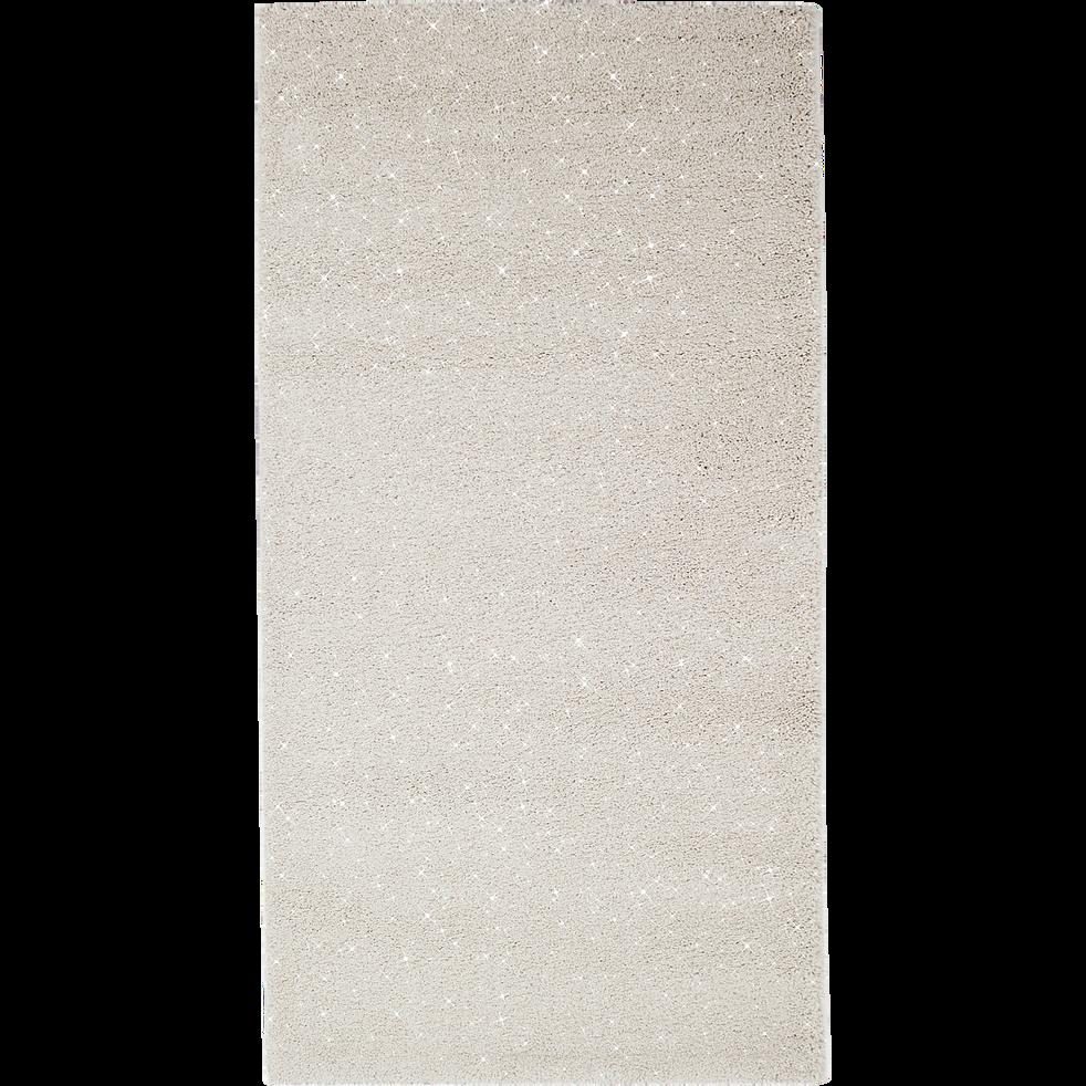 Tapis brillant blanc 60x110cm-MONROE