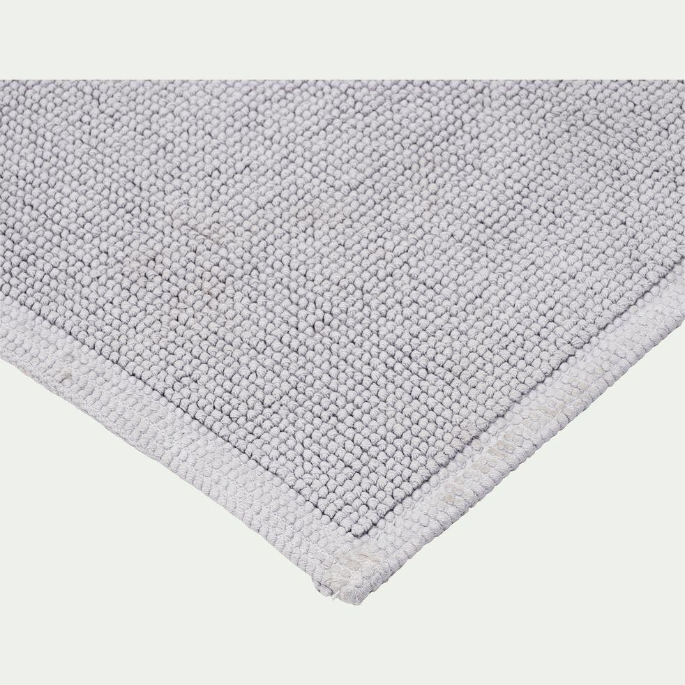 Tapis de bain bouclette en coton - gris borie 60x100cm-CALADE