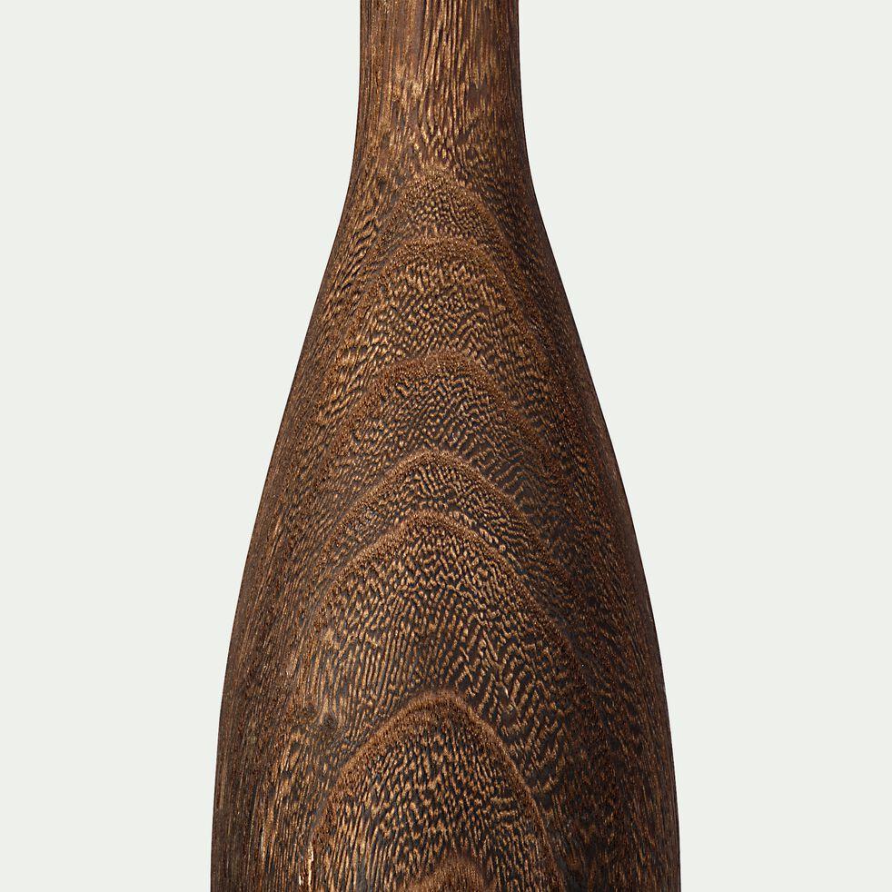 Vase bouteille en bois de paulownia - marron H57cm-PAOLIA